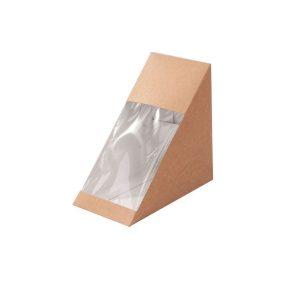 Paper Sandwich Box w Window - Kraft