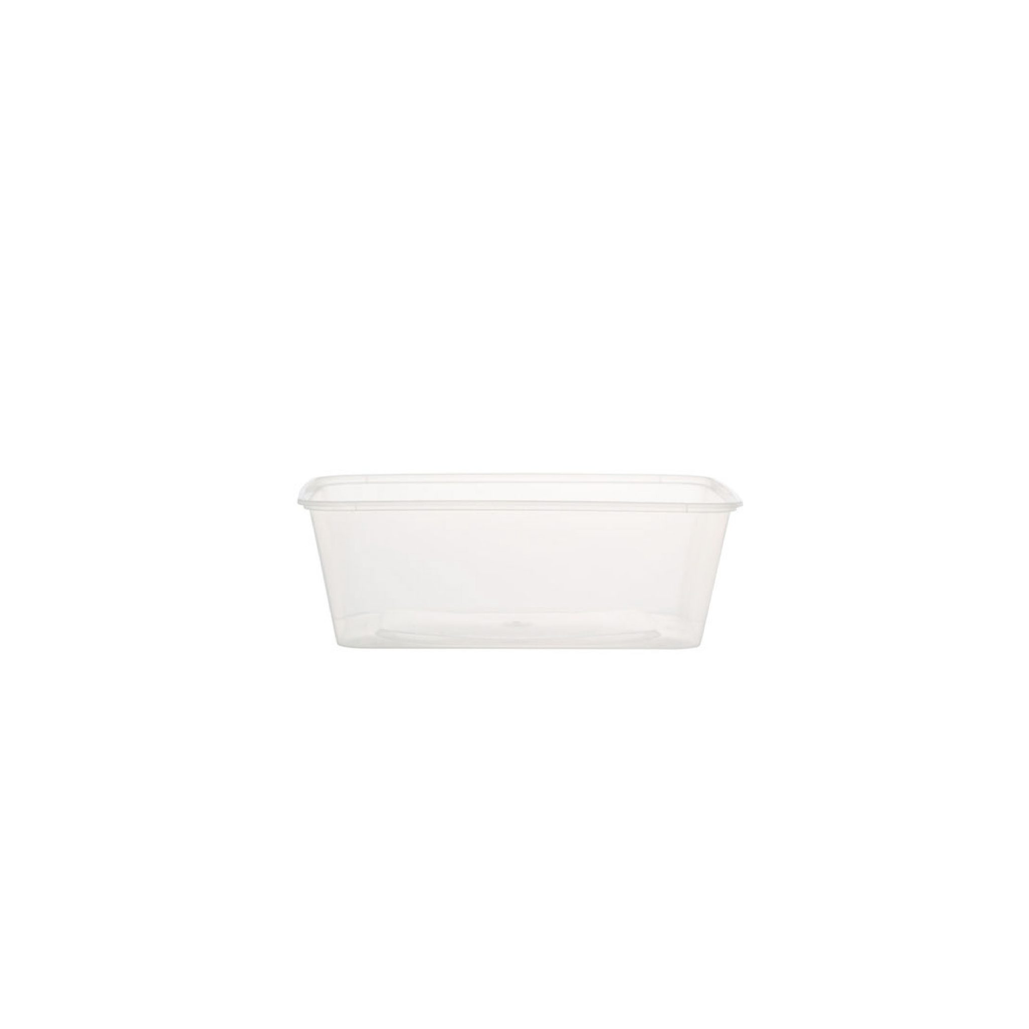 Plastic Rectangular Container W Lid