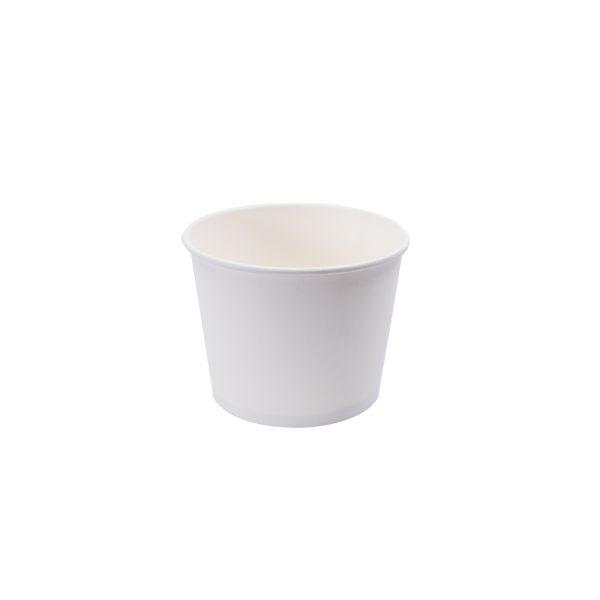 520cc Single Wall Paper Bowl - Plain White