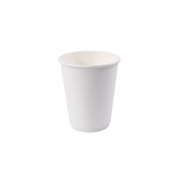 8oz Double Wall Hot Cup - Plain White