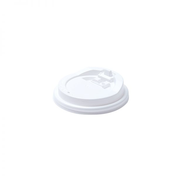 Hot Cup Reclosable Lid - White