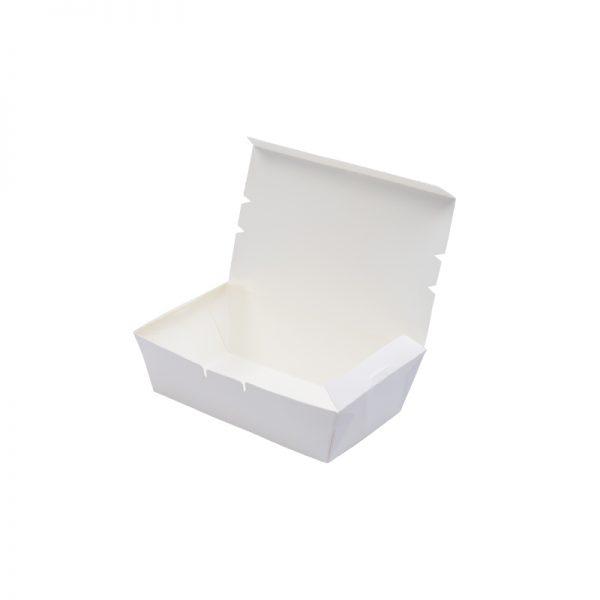 Paper Lunch Box - White (M) (sidelock)