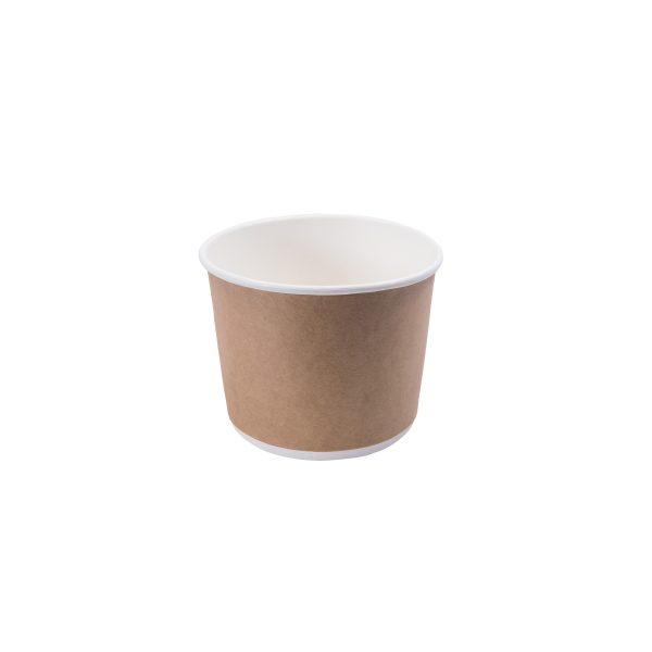 520cc Double Wall Paper Bowl - Kraft